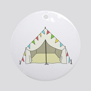 GLAMPING TENT Ornament (Round)