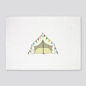 GLAMPING TENT 5'x7'Area Rug