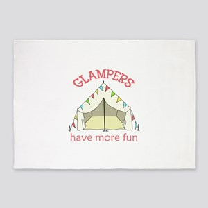 GLAMPERS HAVE MORE FUN 5'x7'Area Rug