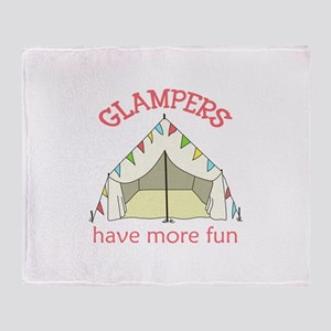 GLAMPERS HAVE MORE FUN Throw Blanket