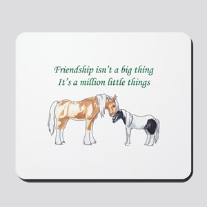 FRIENDSHIP ISNT A BIG THING Mousepad
