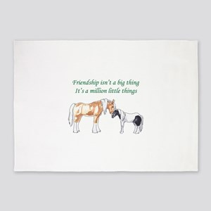FRIENDSHIP ISNT A BIG THING 5'x7'Area Rug