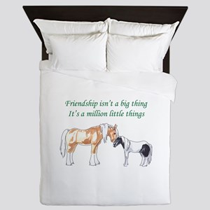 FRIENDSHIP ISNT A BIG THING Queen Duvet