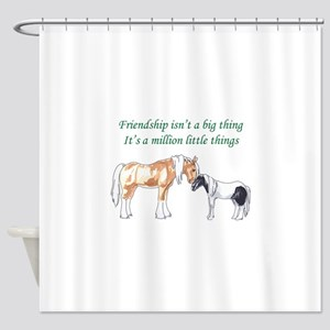FRIENDSHIP ISNT A BIG THING Shower Curtain