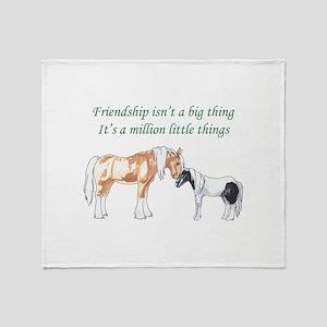 FRIENDSHIP ISNT A BIG THING Throw Blanket