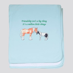 FRIENDSHIP ISNT A BIG THING baby blanket