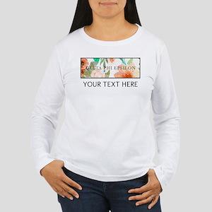 Delta Phi Epsilon Flor Women's Long Sleeve T-Shirt
