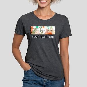 Delta Phi Epsilon Floral Womens Tri-blend T-Shirt