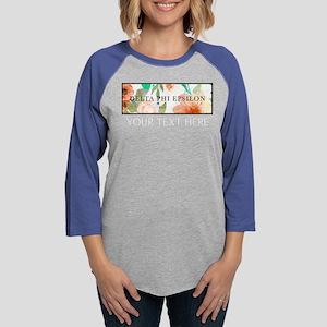Delta Phi Epsilon Floral Perso Womens Baseball Tee
