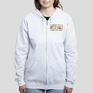 Delta Phi Epsilon Floral Person Women's Zip Hoodie