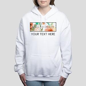 Delta Phi Epsilon Floral Women's Hooded Sweatshirt