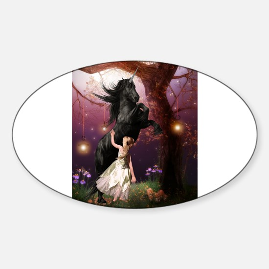 The Girl and the Dark Unicorn Decal