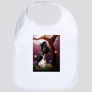 The Girl and the Dark Unicorn Bib