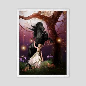 The Girl and the Dark Unicorn Twin Duvet