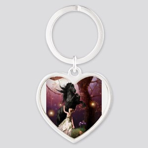 The Girl and the Dark Unicorn Keychains