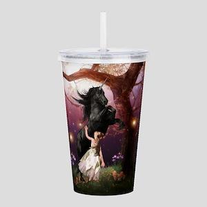 The Girl and the Dark Unicorn Acrylic Double-wall