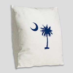 PALMETTO TREE Burlap Throw Pillow