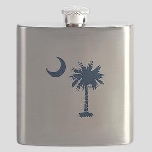 PALMETTO TREE Flask