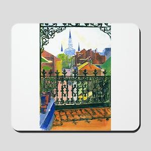 French Quarter Balcony Mousepad