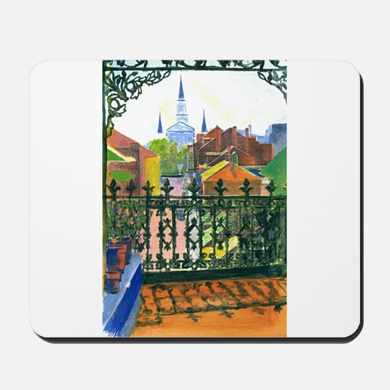 French Quarter Balcony Mousepad