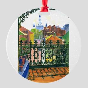 French Quarter Balcony Round Ornament