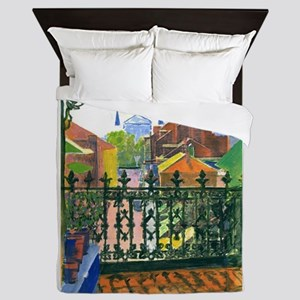French Quarter Balcony Queen Duvet