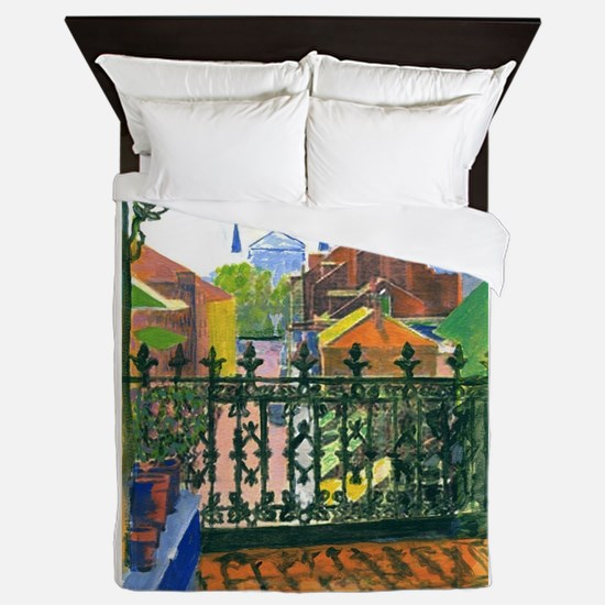 French Quarter Balcony Queen Duvet