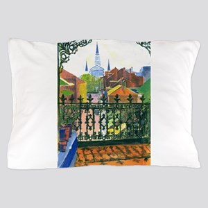 French Quarter Balcony Pillow Case