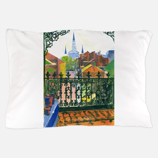 French Quarter Balcony Pillow Case