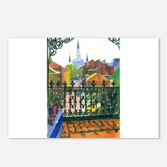 French Quarter Balcony Postcards (Package of 8)
