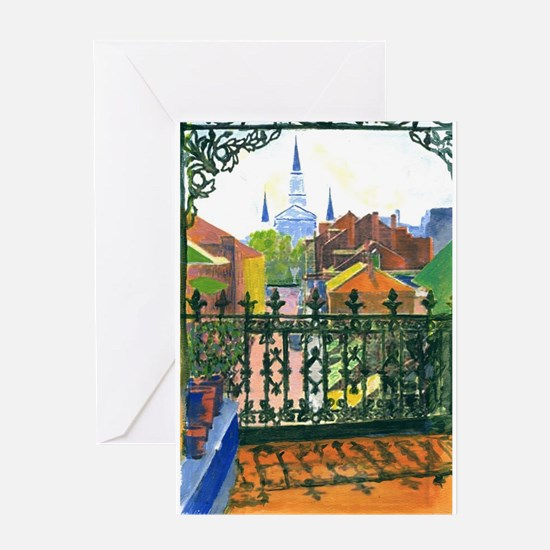 French Quarter Balcony Greeting Cards