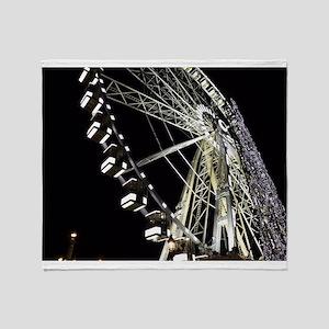 Paris Holiday Farris Wheel Christmas Throw Blanket