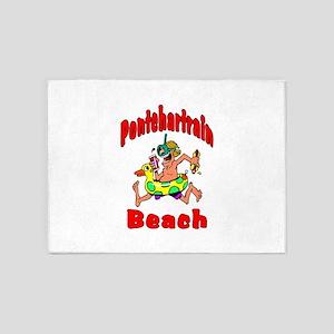 Pontchartrain Beach Kids 5'x7'Area Rug