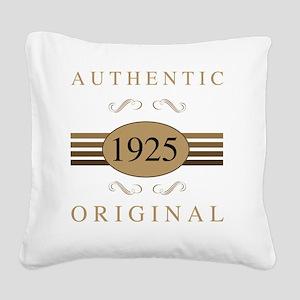 1925 Authentic Square Canvas Pillow