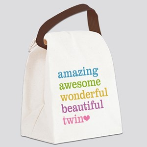 Awesome Twin Canvas Lunch Bag