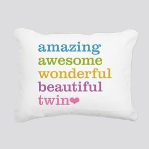 Awesome Twin Rectangular Canvas Pillow