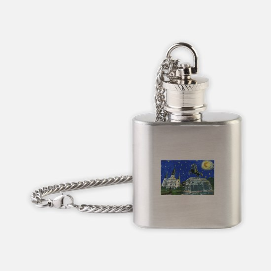 Stary Jackson Square Flask Necklace