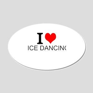 I Love Ice Dancing Wall Decal