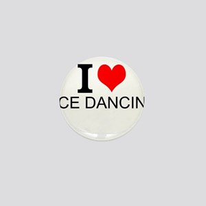I Love Ice Dancing Mini Button