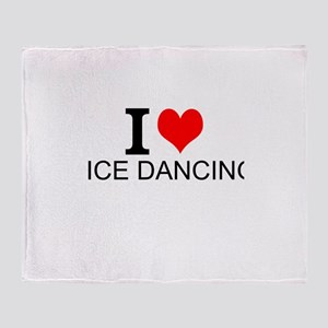 I Love Ice Dancing Throw Blanket