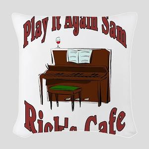 Play It Again Woven Throw Pillow