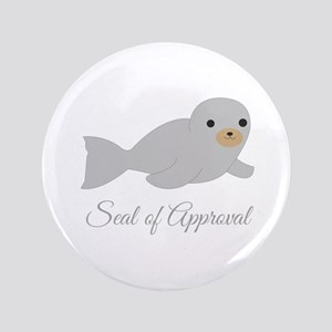 """Seal Of Approval 3.5"""" Button"""