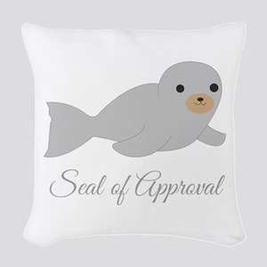 Seal Of Approval Woven Throw Pillow