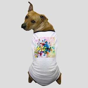 Flower Abstract Dog T-Shirt