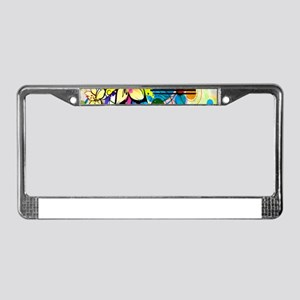 Flower Abstract License Plate Frame