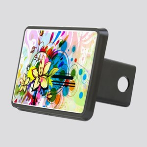 Flower Abstract Hitch Cover