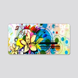 Flower Abstract Aluminum License Plate