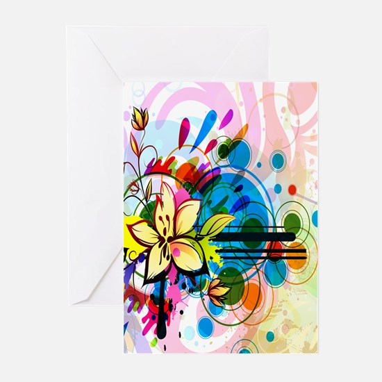 Flower Abstract Greeting Cards