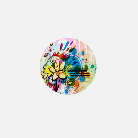 Flower Abstract Mini Button