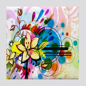 Flower Abstract Tile Coaster